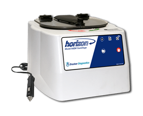 Horizon Model 642M Tube Benchtop Centrifuge with Chord, Front View, Drucker Diagnostics