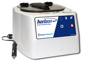 Horizon Model 642M Centrifuge with Chord, Front View, Drucker Diagnostics, Made in the USA