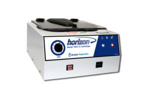 Horizon Model 755V-12 Tube Benchtop Centrifuge, Front View, Drucker Diagnostics, Made in the USA