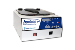 Horizon Model 755VES Tube Benchtop Centrifuge, Front View, Drucker Diagnostics, Made in the USA