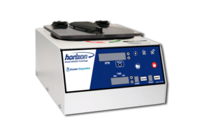 Horizon Model 842VES Tube Benchtop Centrifuge, Front View, Drucker Diagnostics, Made in the USA
