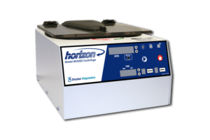Horizon Model 853VES Tube Benchtop Centrifuge, Front View, Drucker Diagnostics, Made in the USA