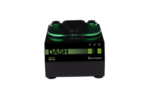 DASH APEX 12 Tube STAT Processing Centrifuge, Front View Green and Black, Made in the USA