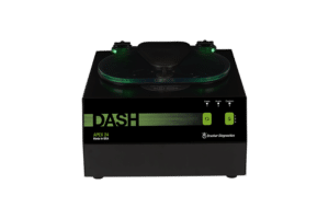DASH APEX 24 Tube STAT Processing Centrifuge, Front View Green and Black, Made in the USA