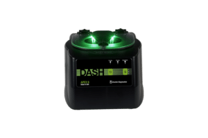 DASH APEX 6 Tube STAT Processing Centrifuge, Front View Green and Black, Made in the USA