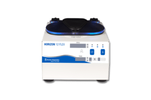 Horizon 12 FLEX Tube Routine Centrifuge, Front View, Drucker Disagnostics Made in the USA