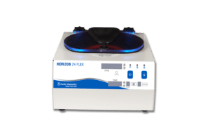 Horizon 24 FLEX Tube Routine Centrifuge, Front View, Drucker Disagnostics Made in the USA