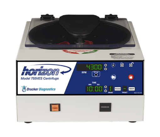 Horizon Model 755VES Centrifuge, Front View, Made in the USA